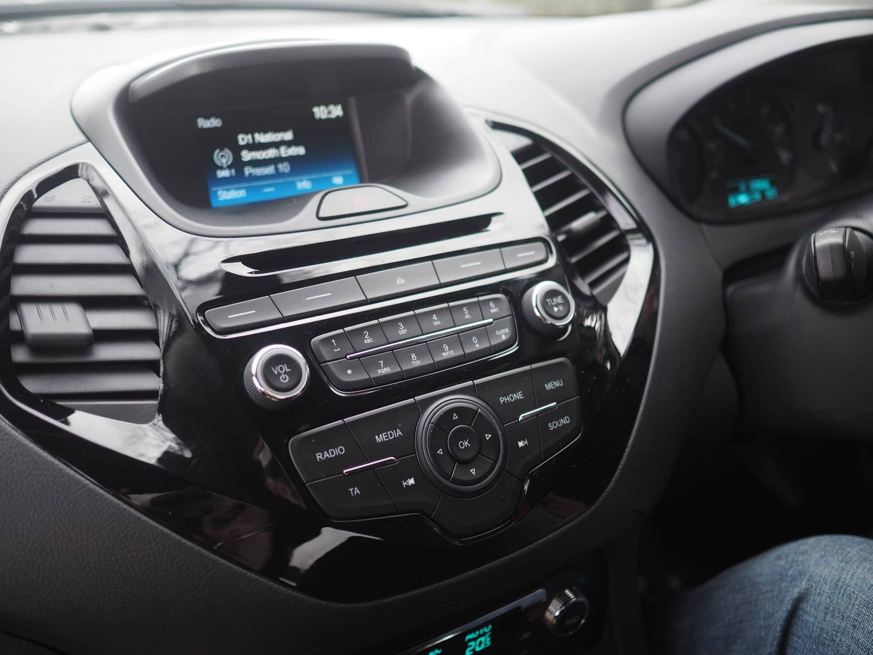 Interior of Ford Ka+
