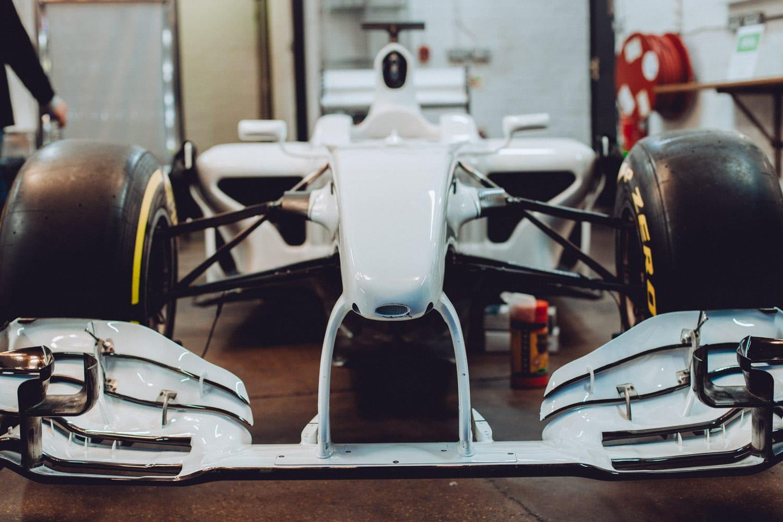 F1 Car White Brawn Mercedes