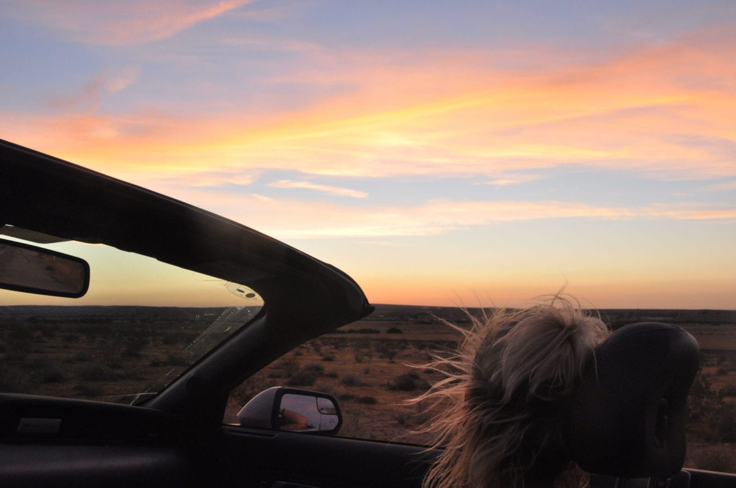 Sunset on Route 66 Road Trip