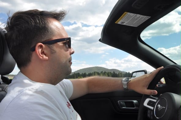 Car Driving Ford Mustang