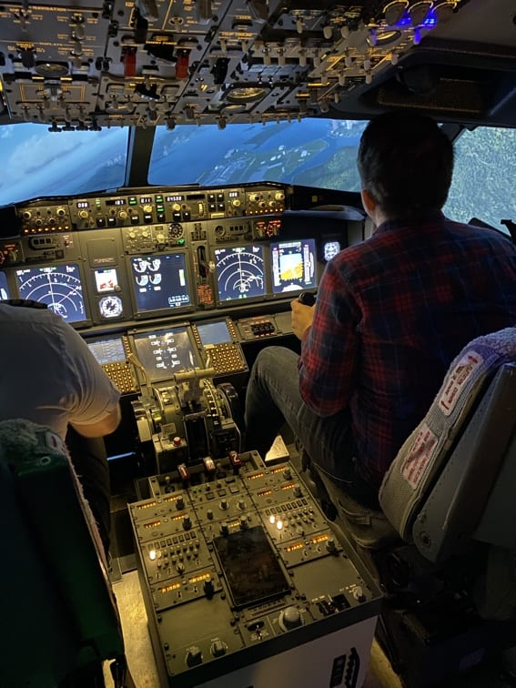 Flight Simulator Experience Turning
