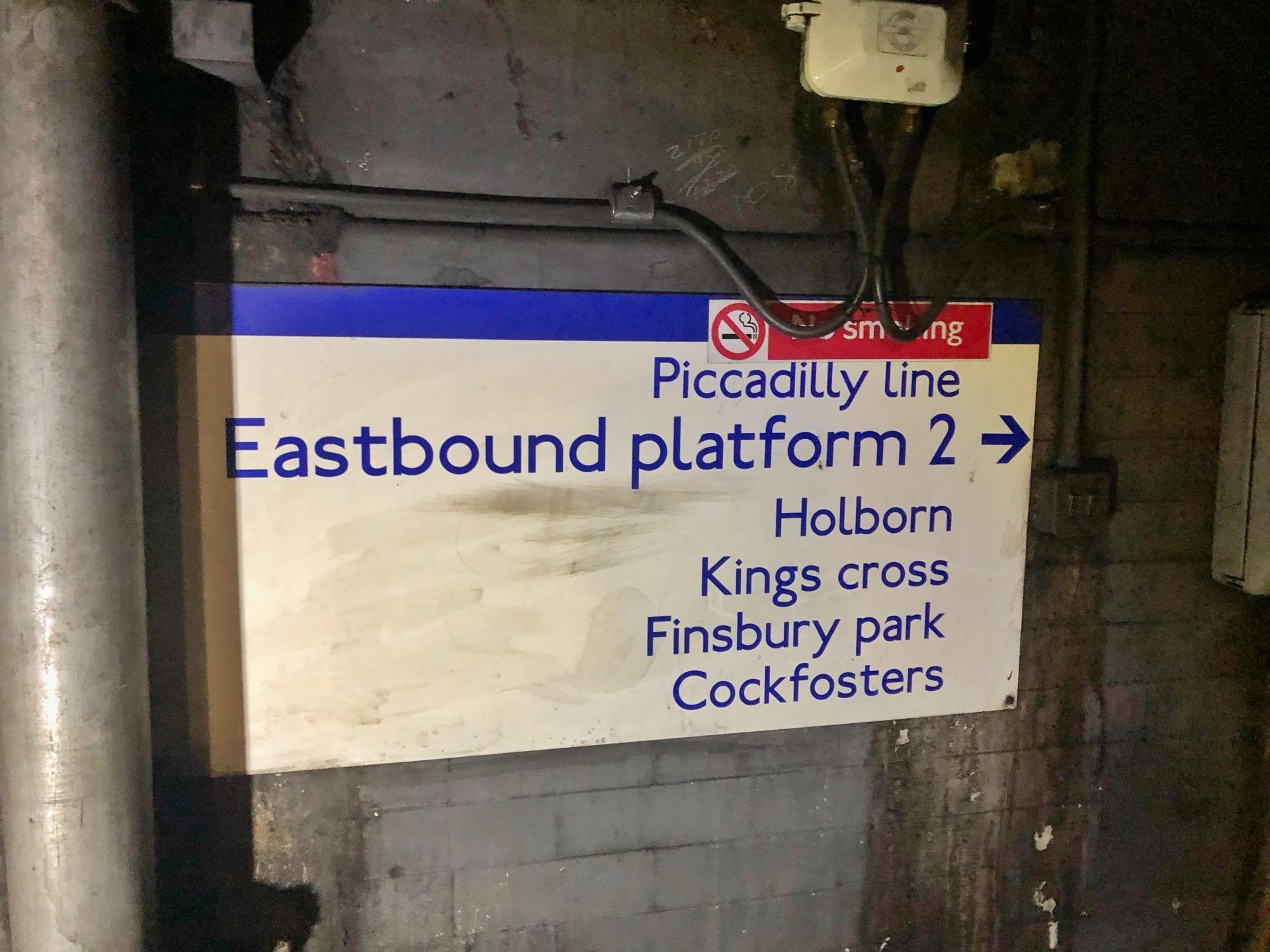 Tube Station Sign