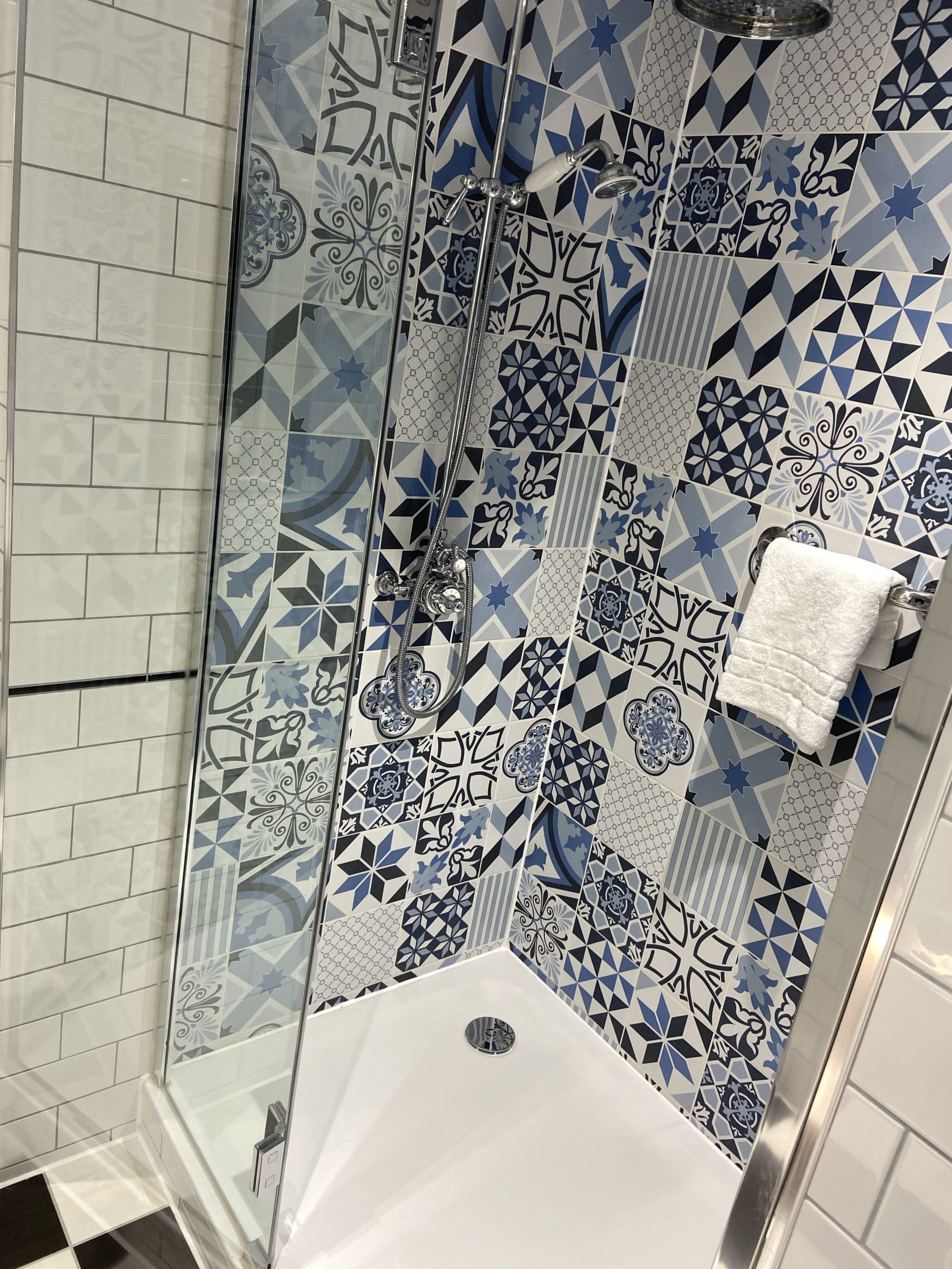 Shower with Mosaic tiles