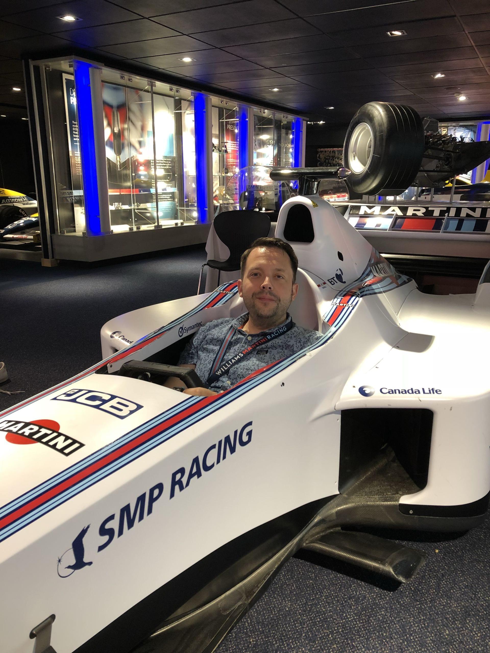 Man in F1 car