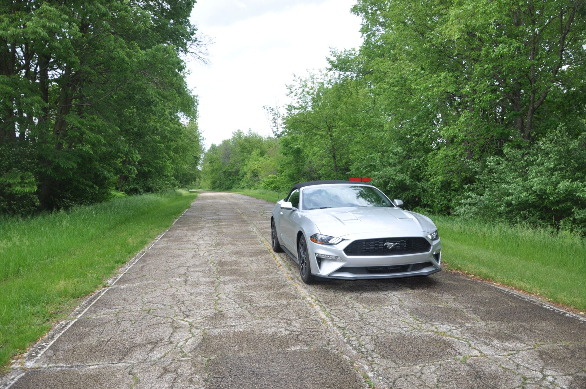 Ford Mustang on Route 66 Illinois