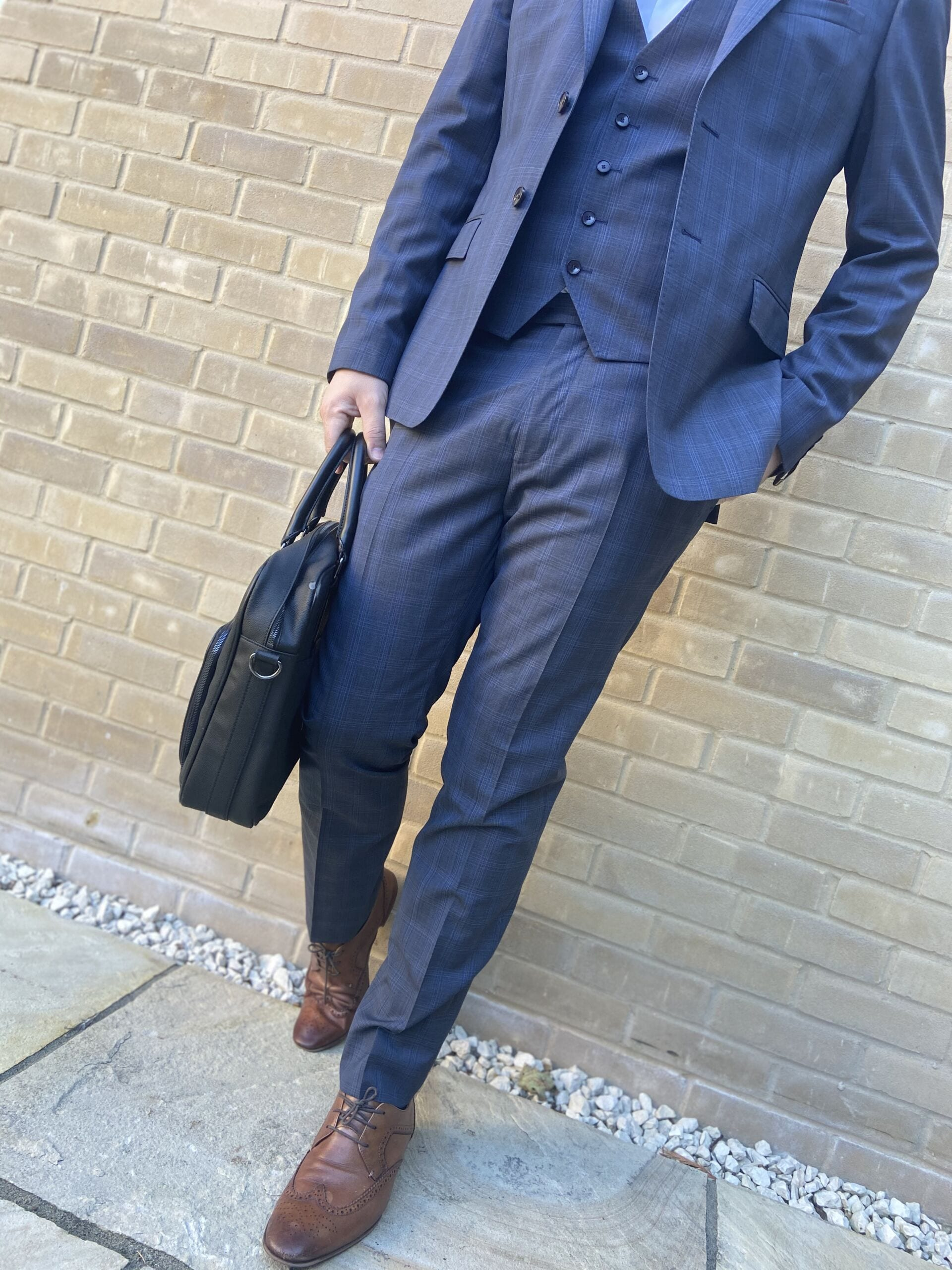 Ted Baker Blue Suit with Bag