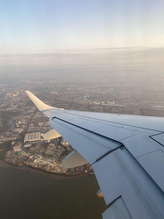 Flight over London