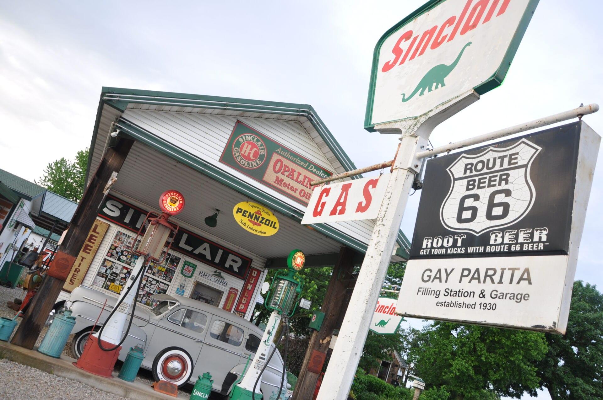 Gay Parita Sinclair Station Route 66 Missouri