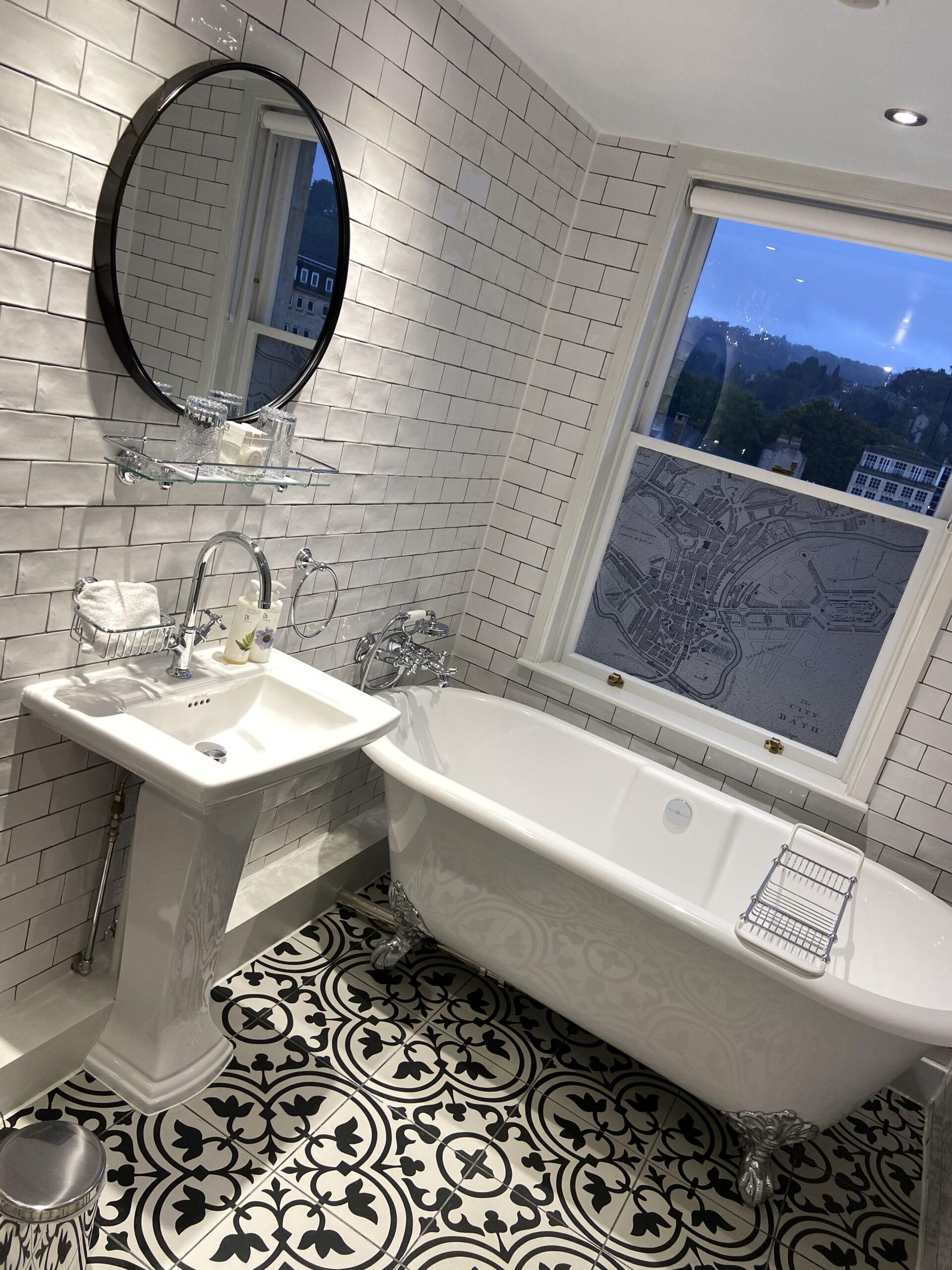 Victorian modern hotel bathroom