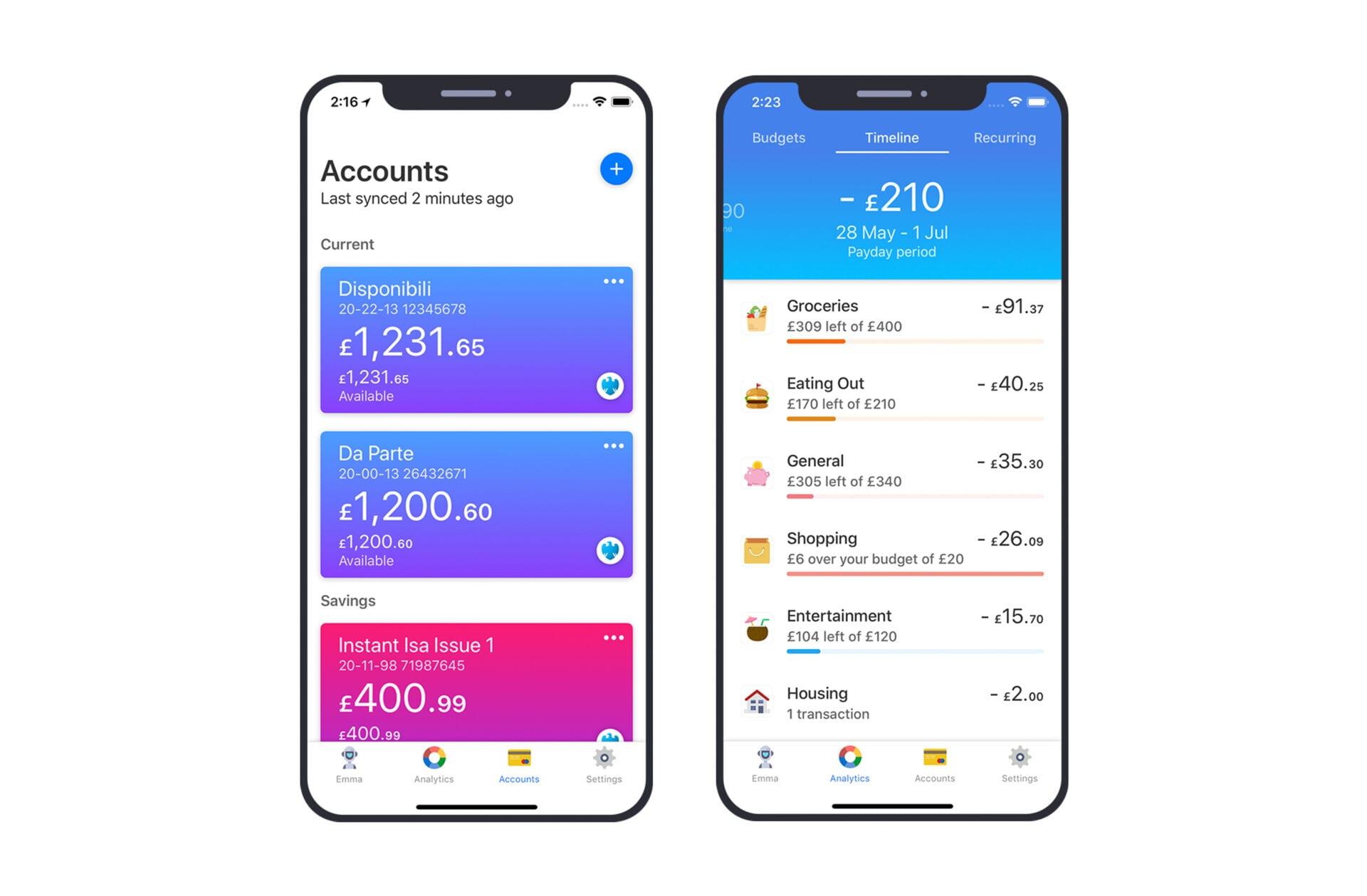 Emma Banking App