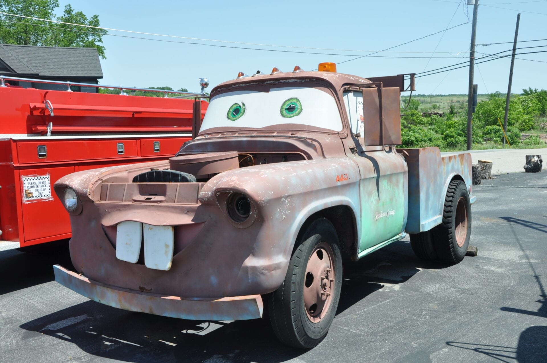 Cars on the Route Mater Tow Truck