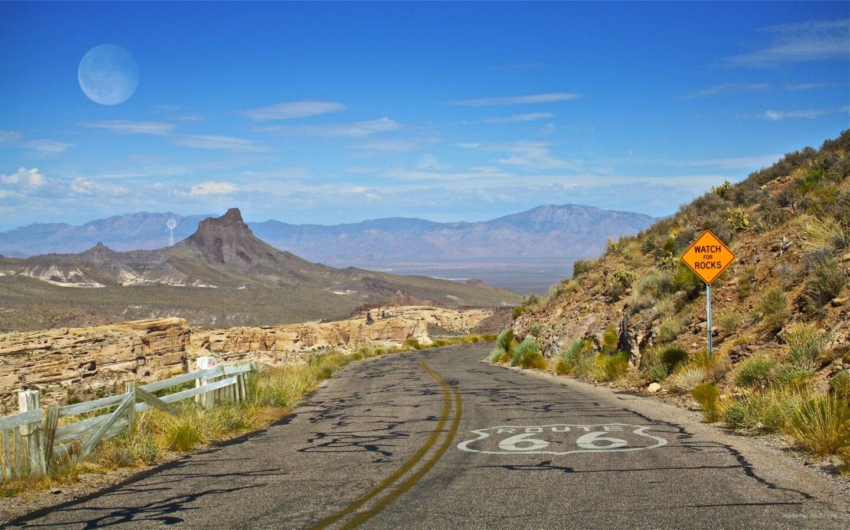Route 66 road scene