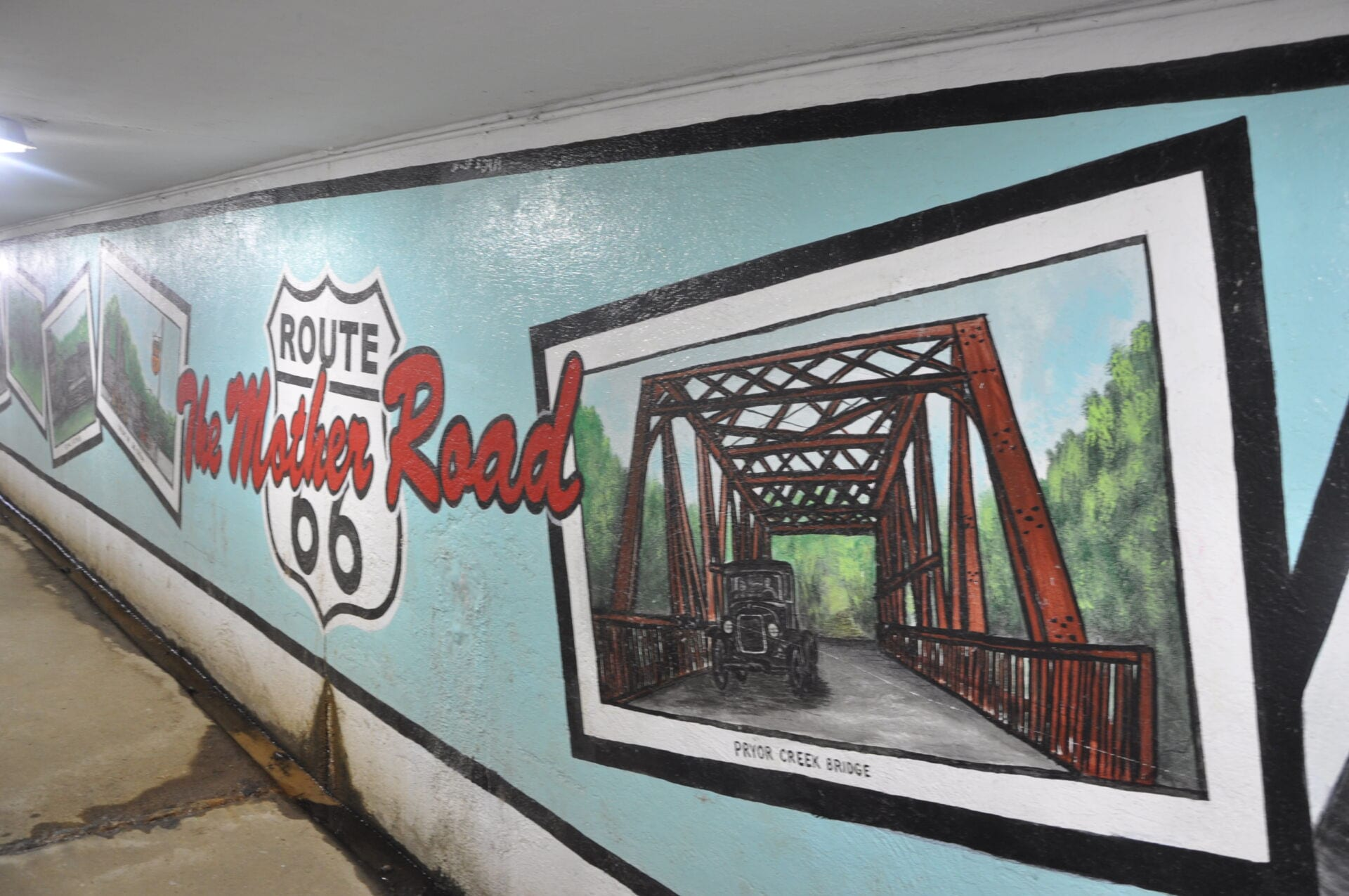Chelsea Underpass Murals Route 66 Oklahoma