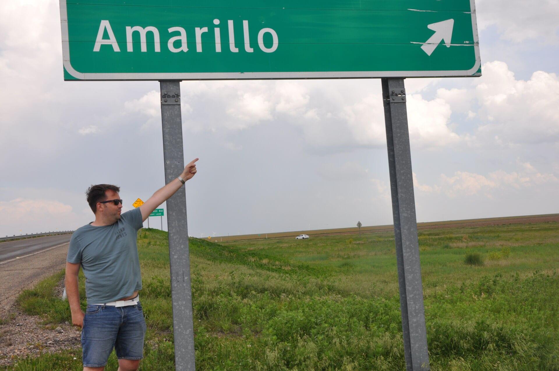 Amarillo Road Sign Route 66 Texas
