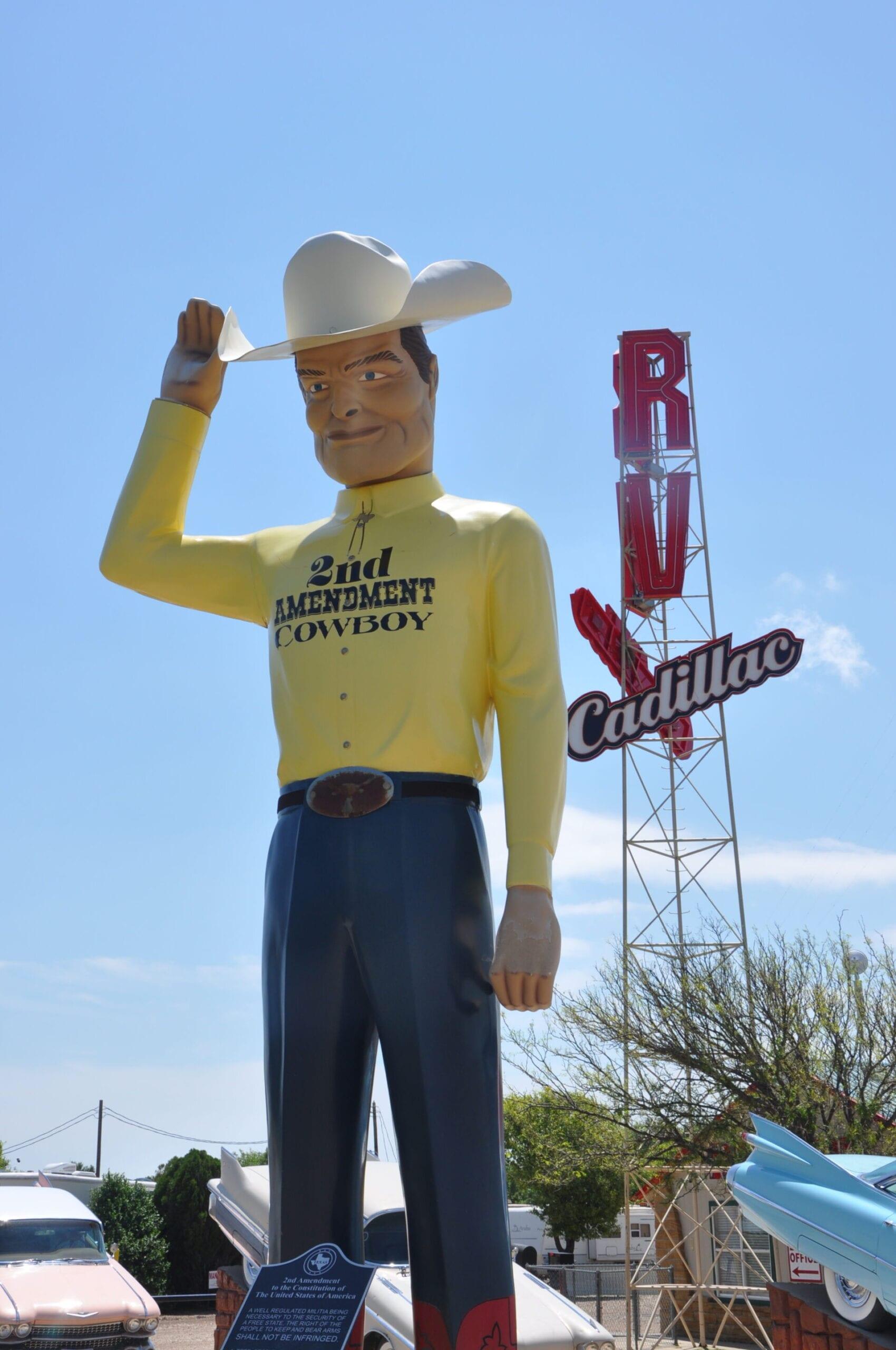 2nd Amendment Boy Route 66 Texas