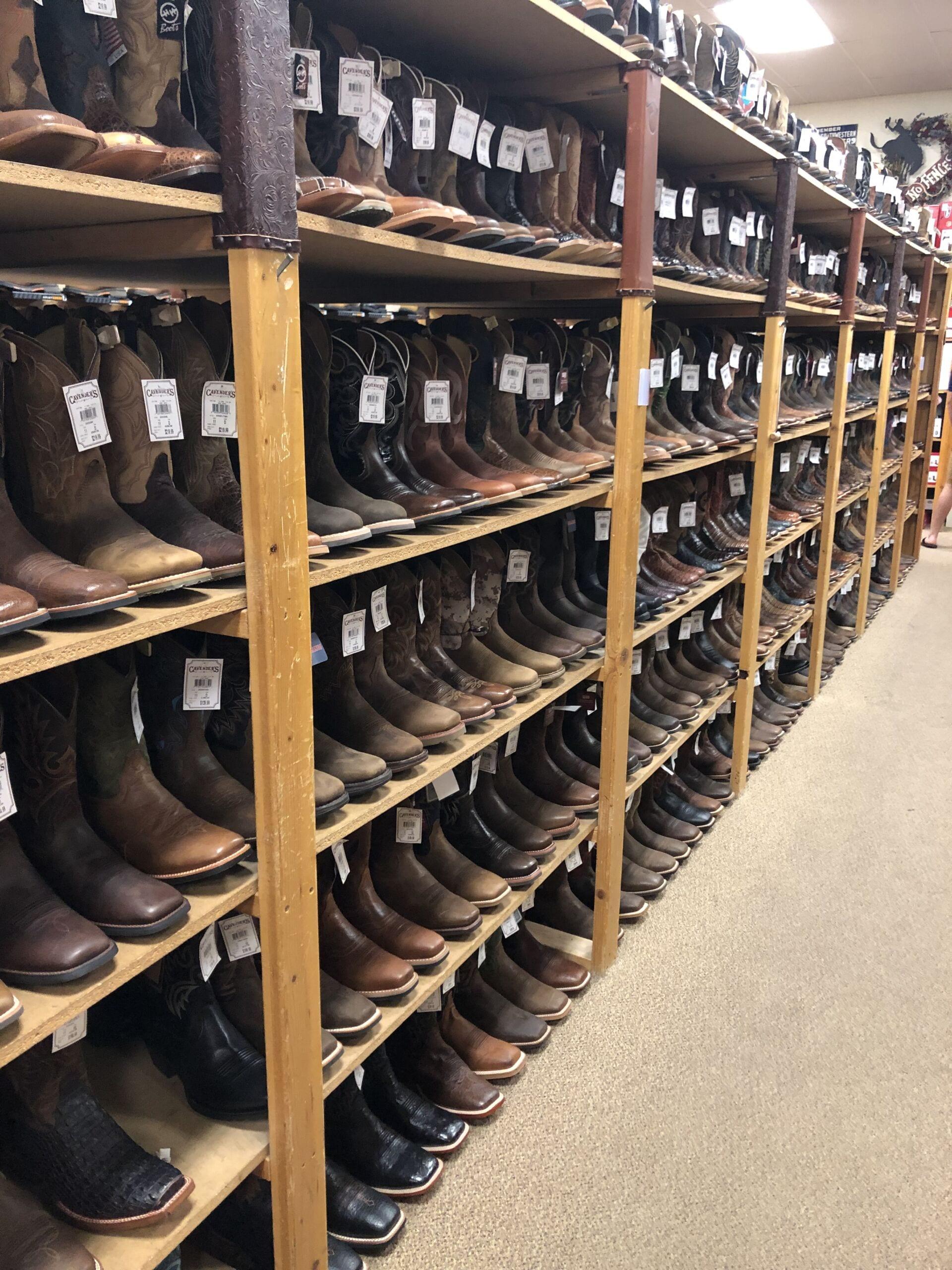 Cowboy Boots in Shop