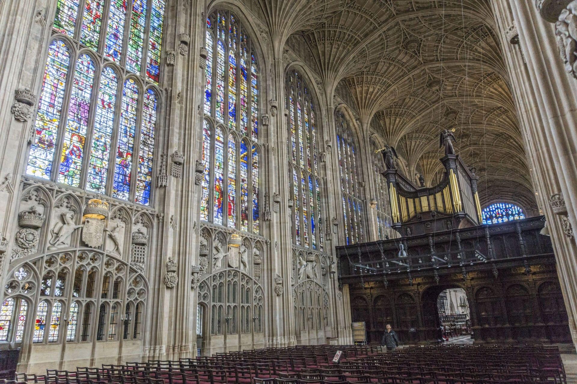 Cambridges King's College Chapel Interior