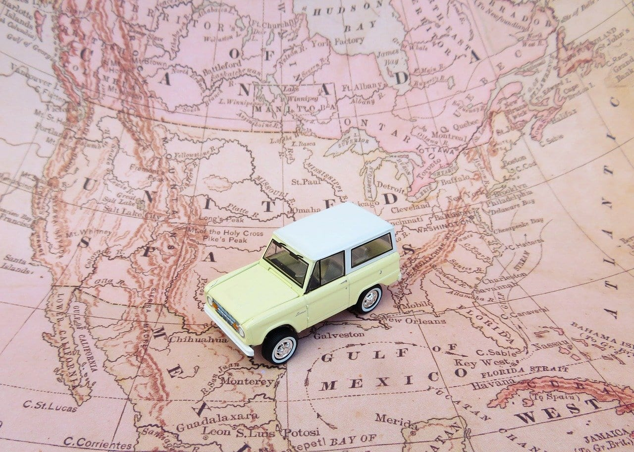 Map and Car
