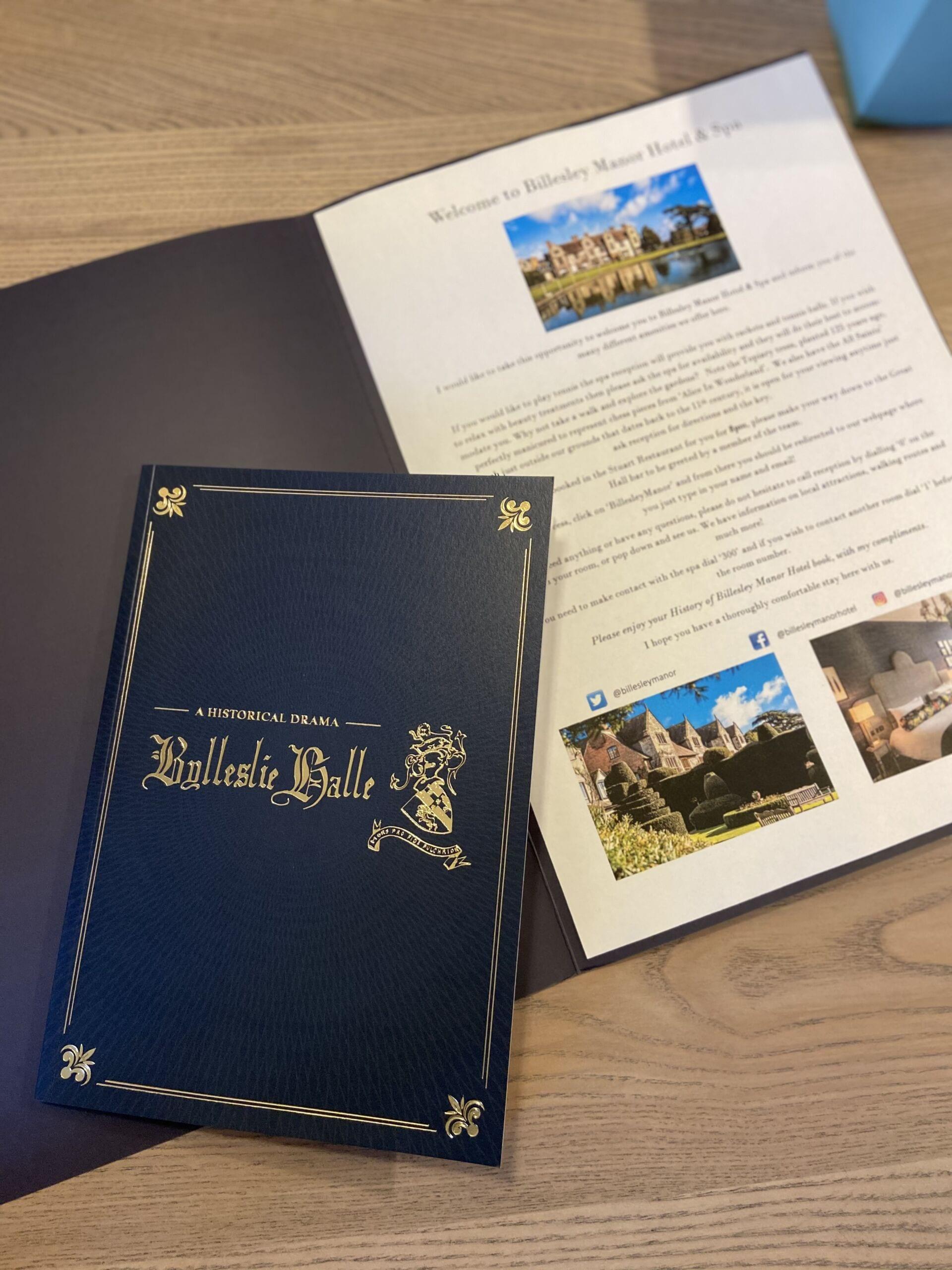 Billesley Manor history book