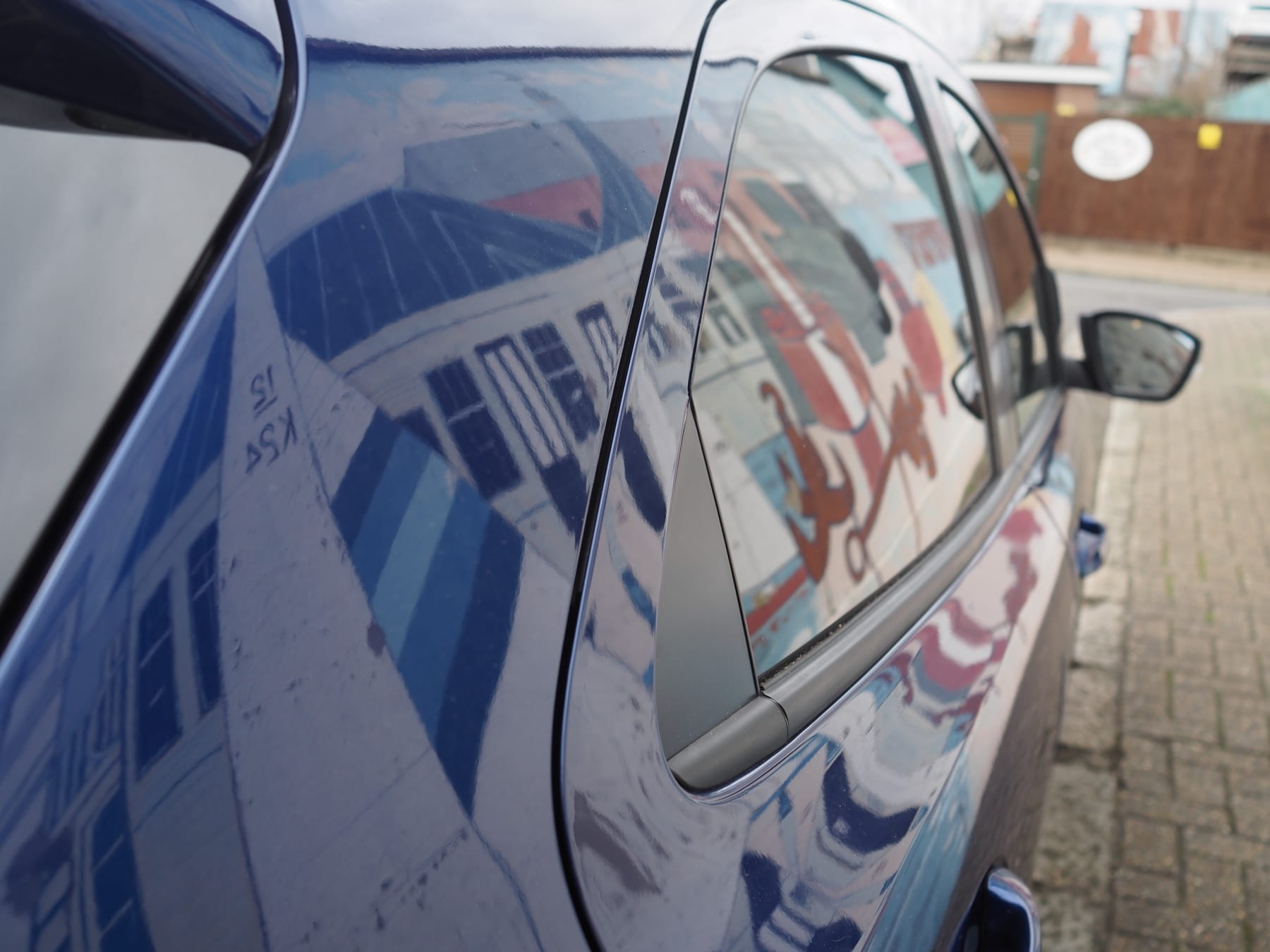 Exterior of Ford Ka+ in Blue test drive